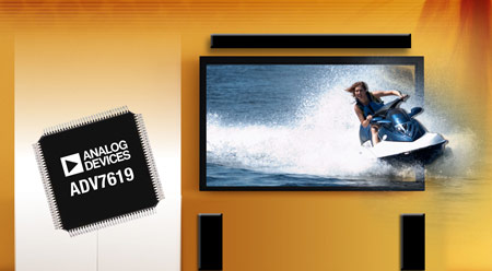 Analog Devices ADV7619 - первый в отрасли приемник HDMI, рассчитанный на частоты до 3 ГГц